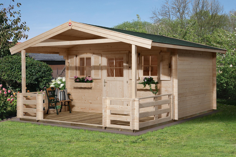 Abri De Jardin Avec Auvent Et Terrasse - Abri Bois De 10 À 15 M² Nea Concept encequiconcerne Abri De Jardin Avec Auvent