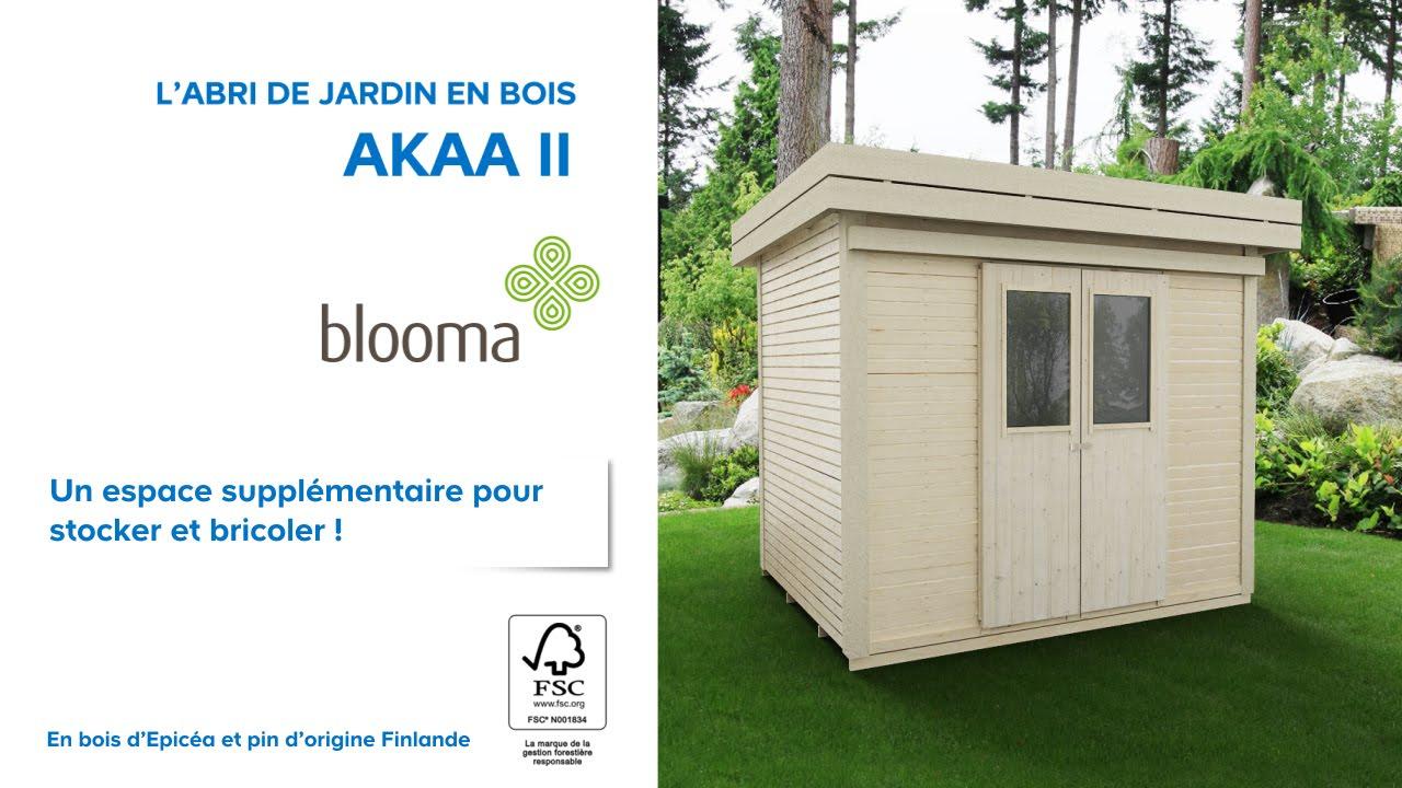 Abri De Jardin En Bois Akaa Blooma (676229) Castorama pour Blooma Abris De Jardin