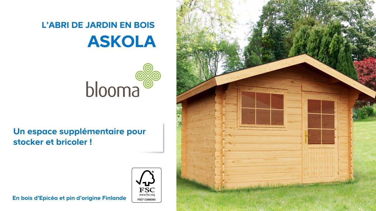 Abri De Jardin En Bois Askola Blooma (610707) Castorama pour Blooma Abris De Jardin