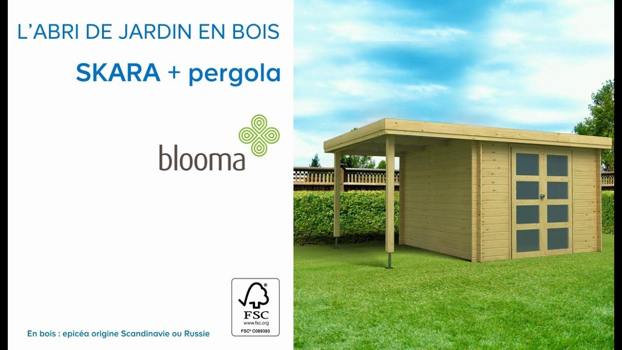 Abri De Jardin En Bois + Pergola Skara Blooma (675978) Castorama tout Blooma Abris De Jardin