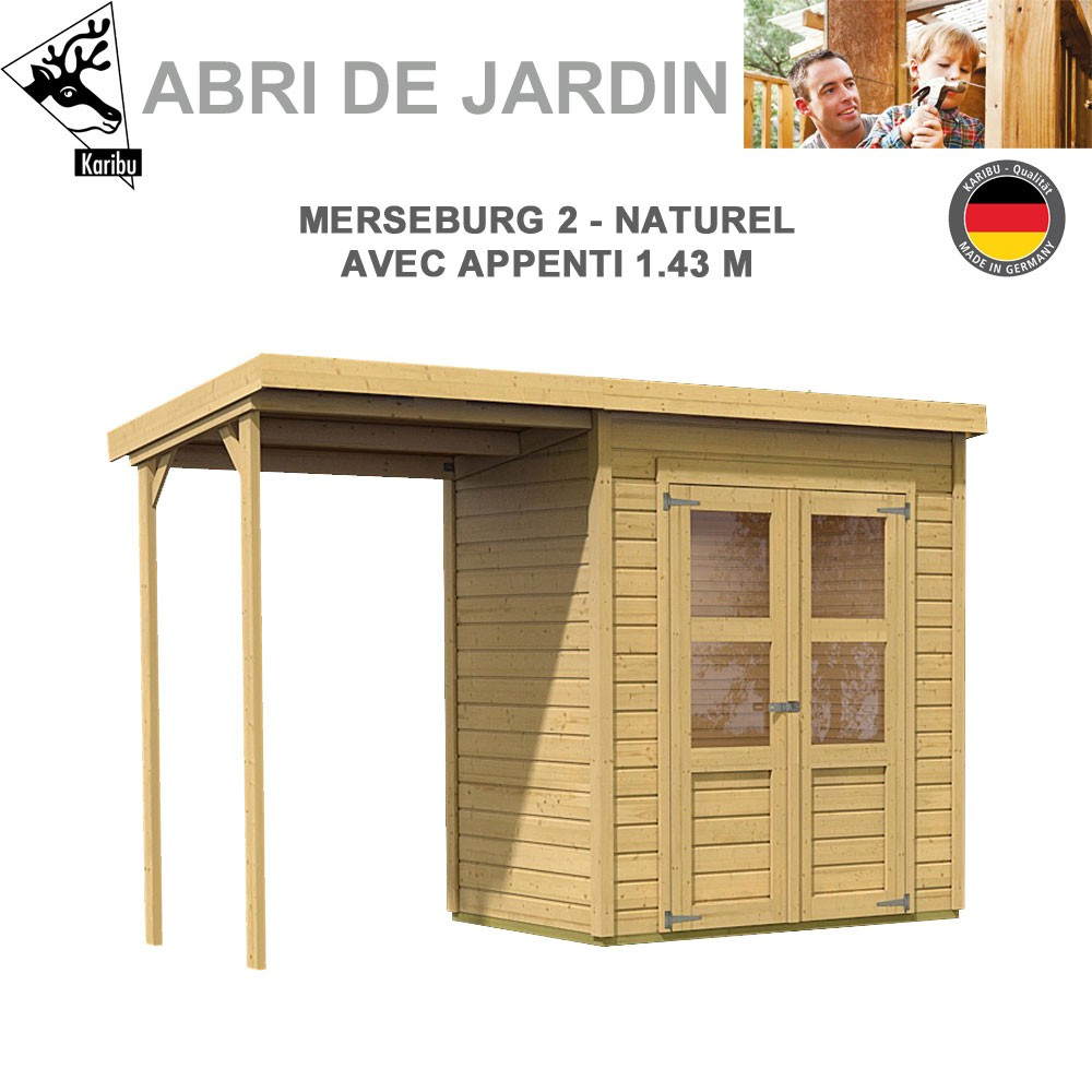 Abri De Jardin Merseburg 2 - 14Mm + Appenti dedans Appenti De Jardin