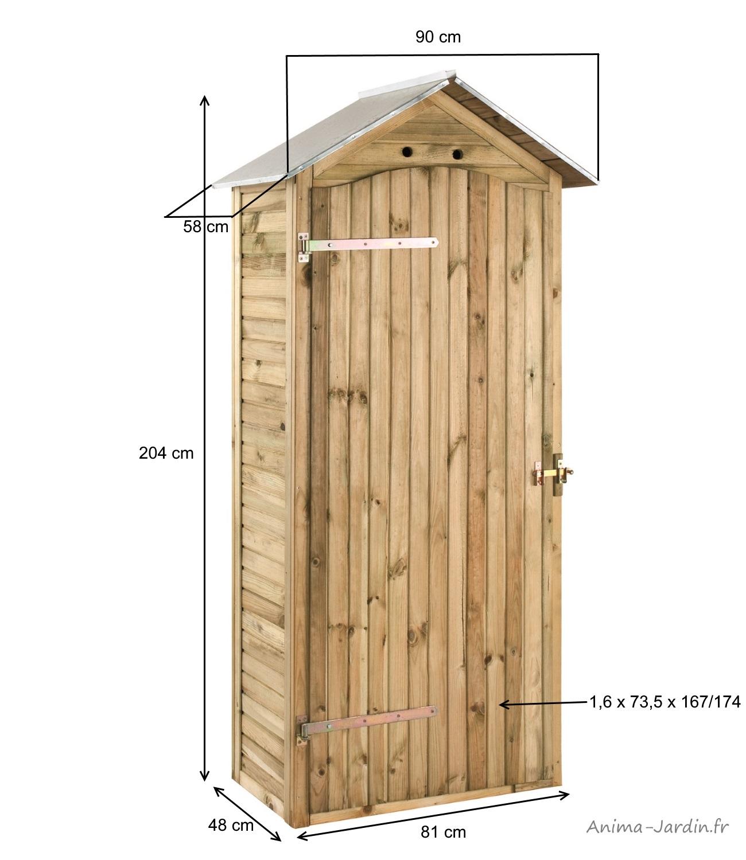 armoire de rangement bois autoclave 033 m² petit abri