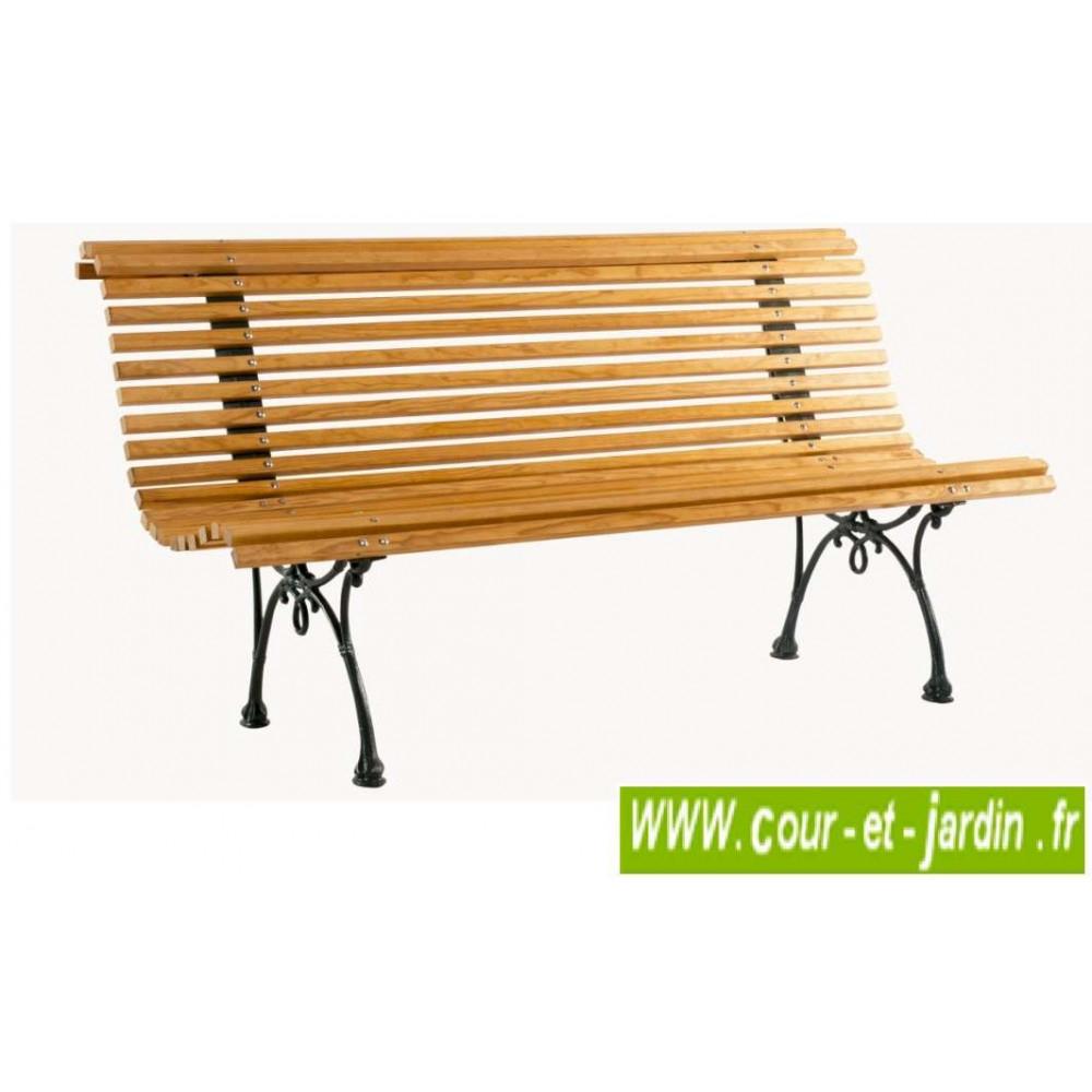 Banc De Jardin Bois: Campos, Pieds Fonte - (150Cm ... destiné Banc De Jardin En Fonte