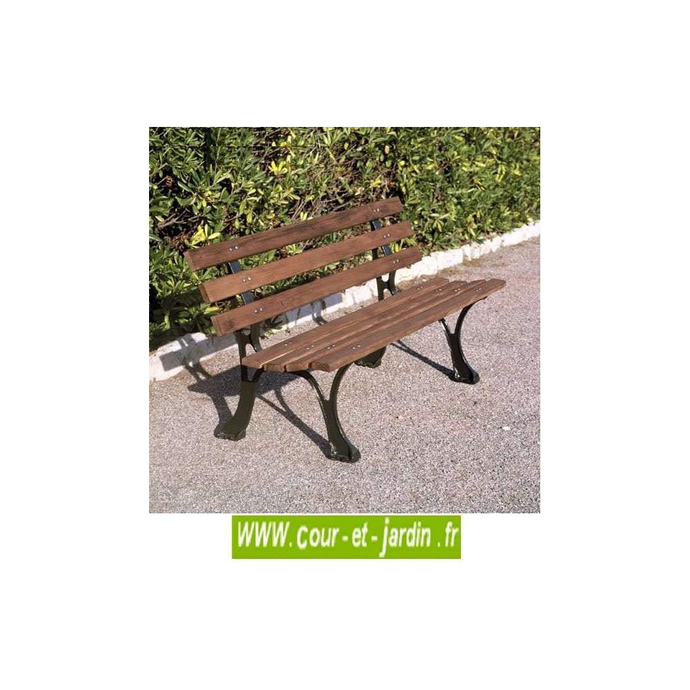 Banc De Jardin En Fonte, Et Bois : Alsace (150Cm) - Mobilier ... tout Banc De Jardin En Fonte