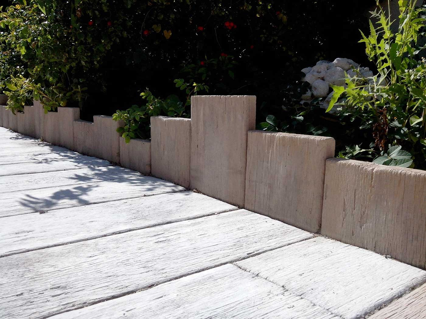 Bordure De Jardin En Pierre Reconstituée Planche Apparence ... avec Bordure Jardin Imitation Pierre