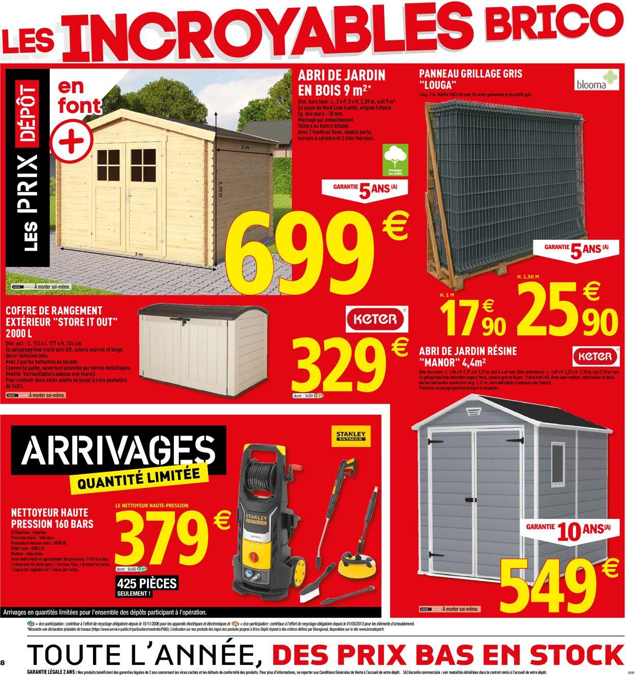 Brico Dépôt Catalogue Actuel 07.06 - 30.06.2019 [8 ... pour Abri Jardin Bois Brico Depot