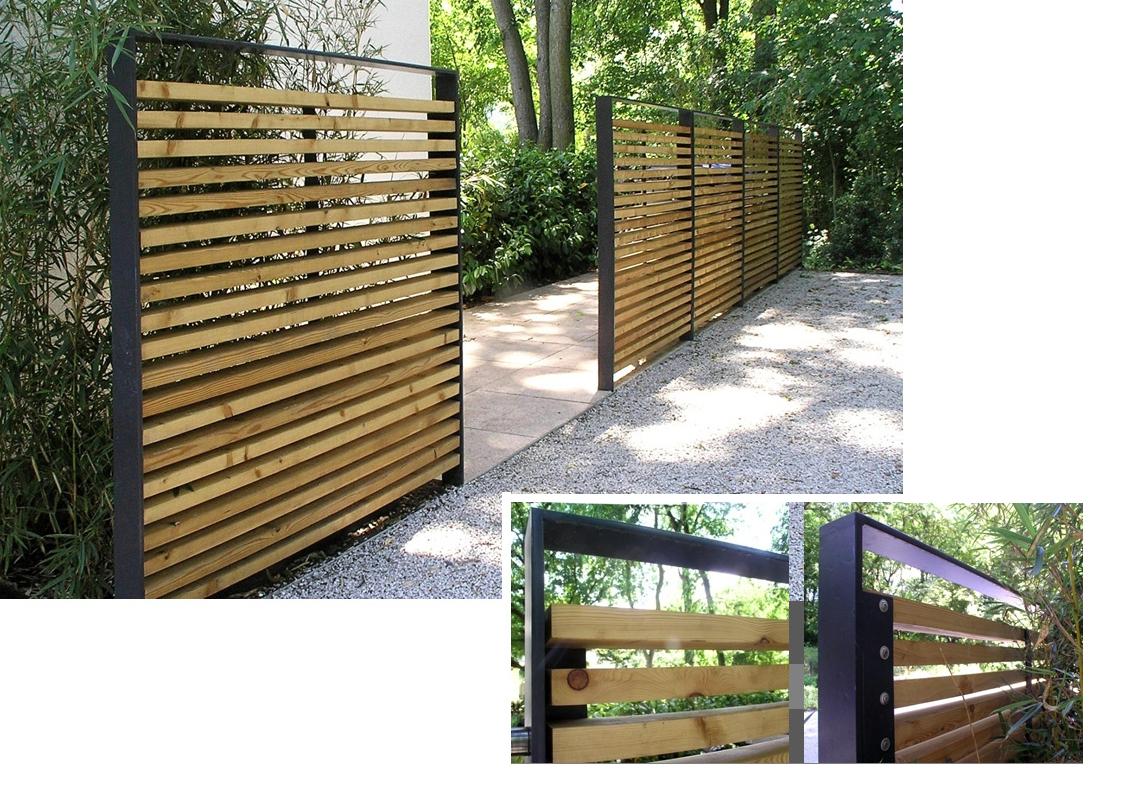 Brise Vue Bois Métal | Terrasse Jardin, Amenagement Jardin ... destiné Cache Vue Jardin