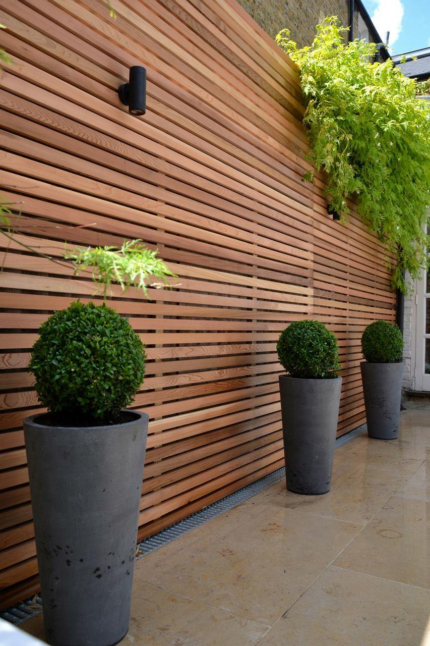 Brise Vue Jardin Esthétique Et Pratique | Jardins En Bois ... pour Cache Vue Jardin
