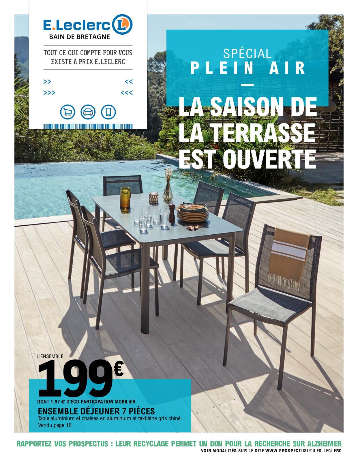 Calaméo - Catalogue Plein Air 2020 intérieur Transat Jardin Chez Leclerc