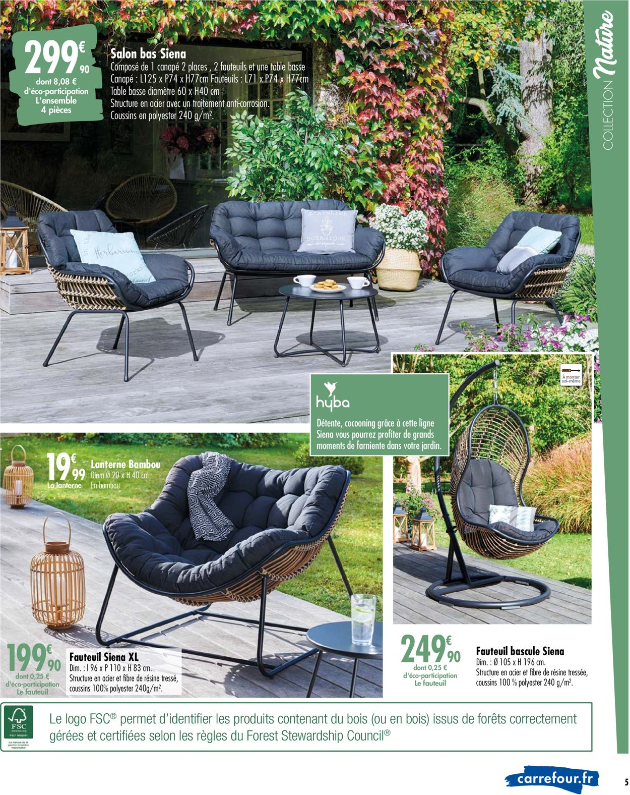 Carrefour Catalogue Actuel 24.03 - 26.04.2020 [5 ... intérieur Salon De Jardin Résine Tressée Carrefour