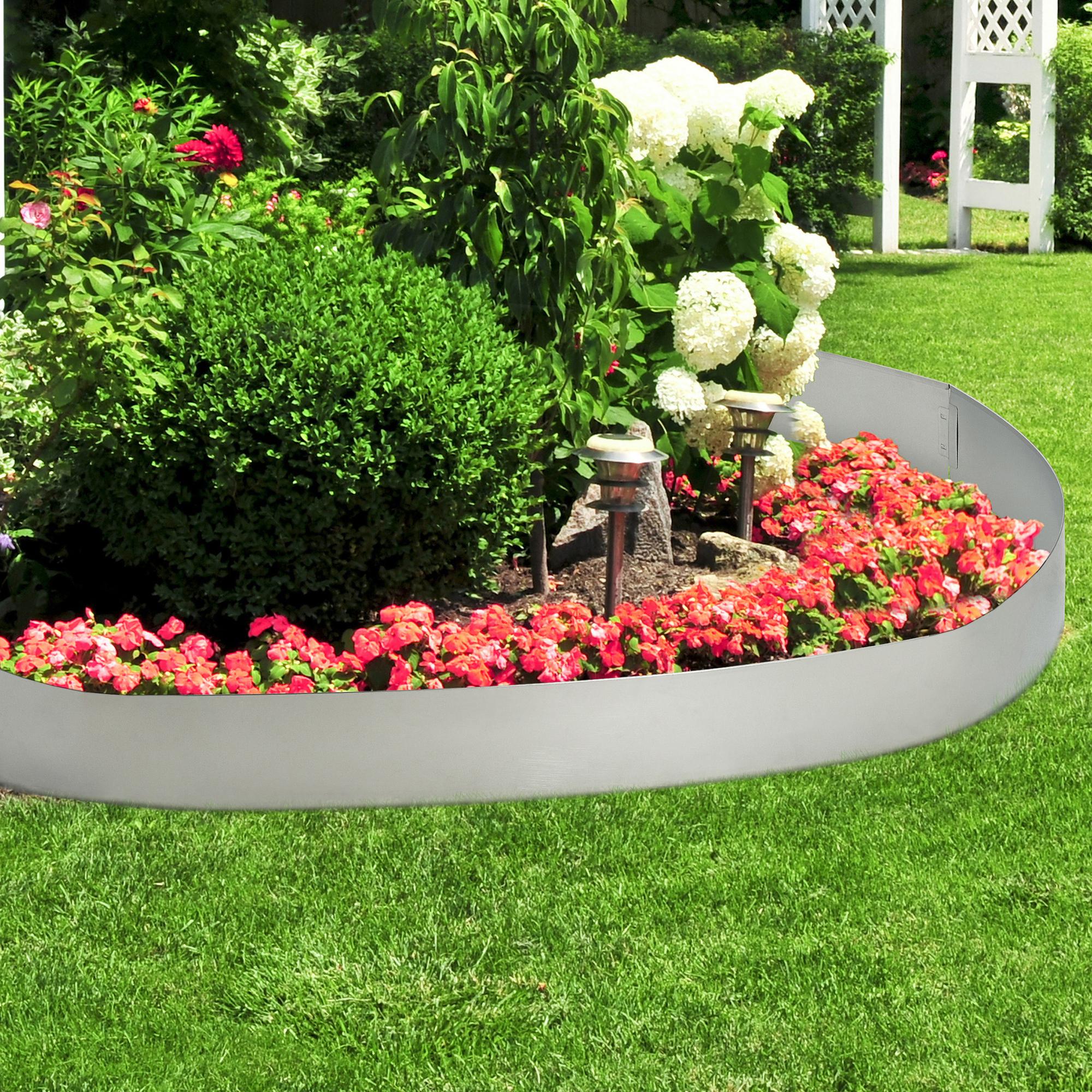 Casa.pro]® Bordure Pour Jardin Acier Galvanisé Barrière 500 ... destiné Ebay Salon De Jardin
