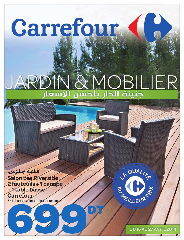 """Catalogue Carrefour """"jardin Et Mobilier"""" By Carrefour ... à Salon De Jardin Résine Tressée Carrefour"""