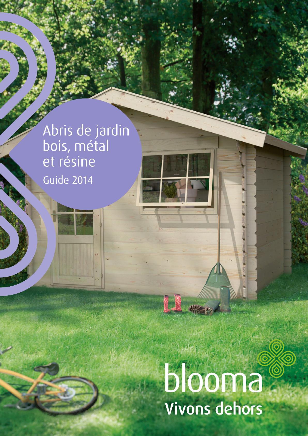 Catalogue Castorama Blooma Abris De Jardin Et Garages 2014 ... avec Blooma Abris De Jardin