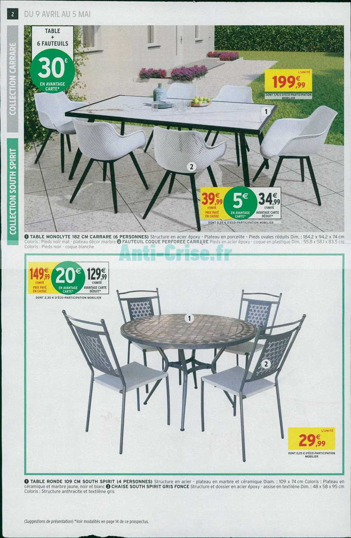 Catalogue Intermarché Du 09 Avril Au 05 Mai 2019 (Terrasse ... dedans Intermarché Salon De Jardin