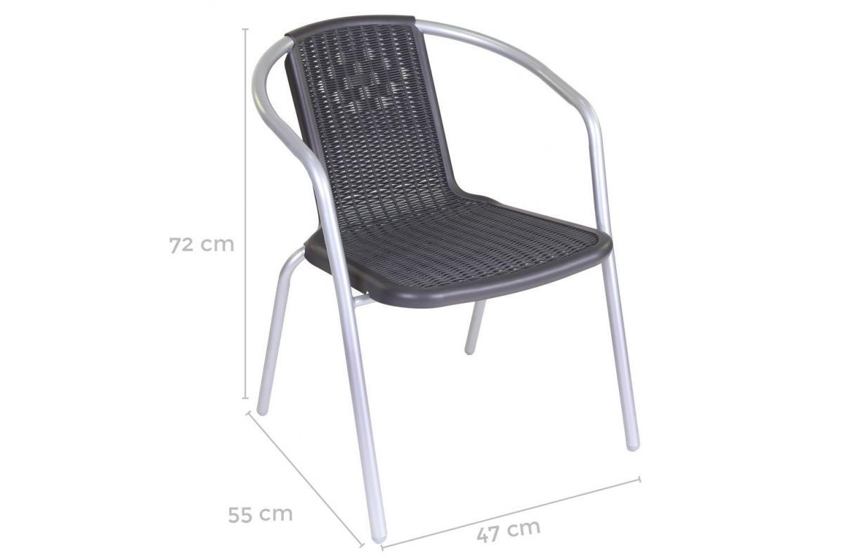 Chaise De Jardin Gris Noir Elia Plus D's à Chaise De Jardin Pas Chere