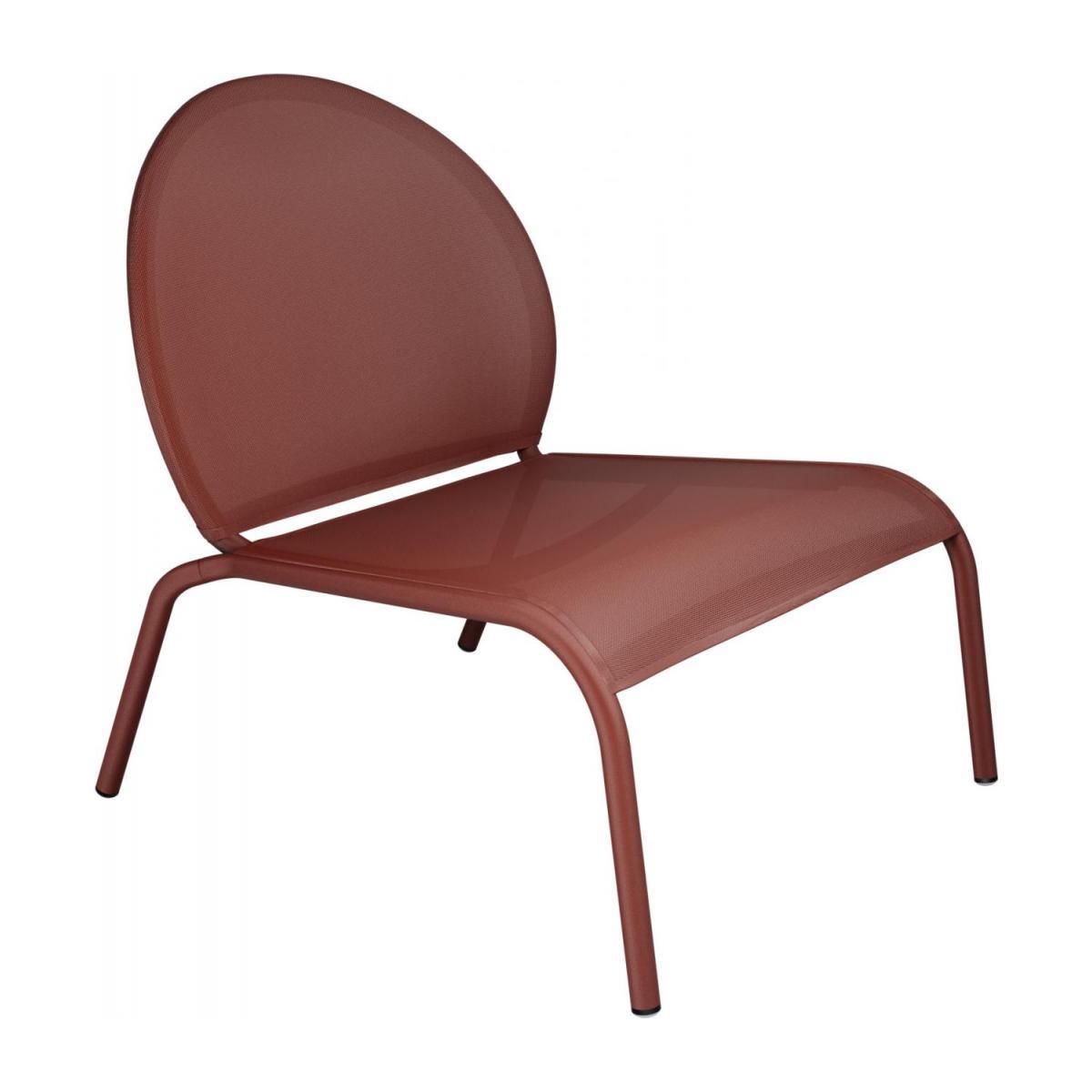 Chaise Lounge En Aluminium Et Textilène - Rouge à Chaise Basse De Jardin