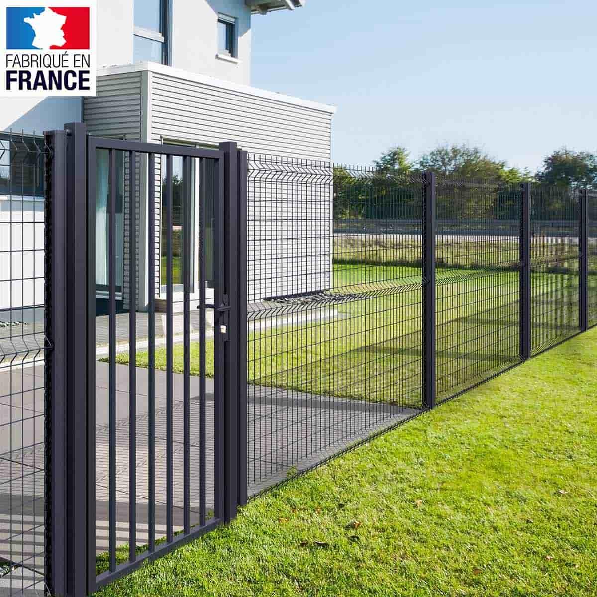 Clôture Grillage Rigide - Maille 10X5.5Cm, Gris pour Grillage De Jardin Rigide
