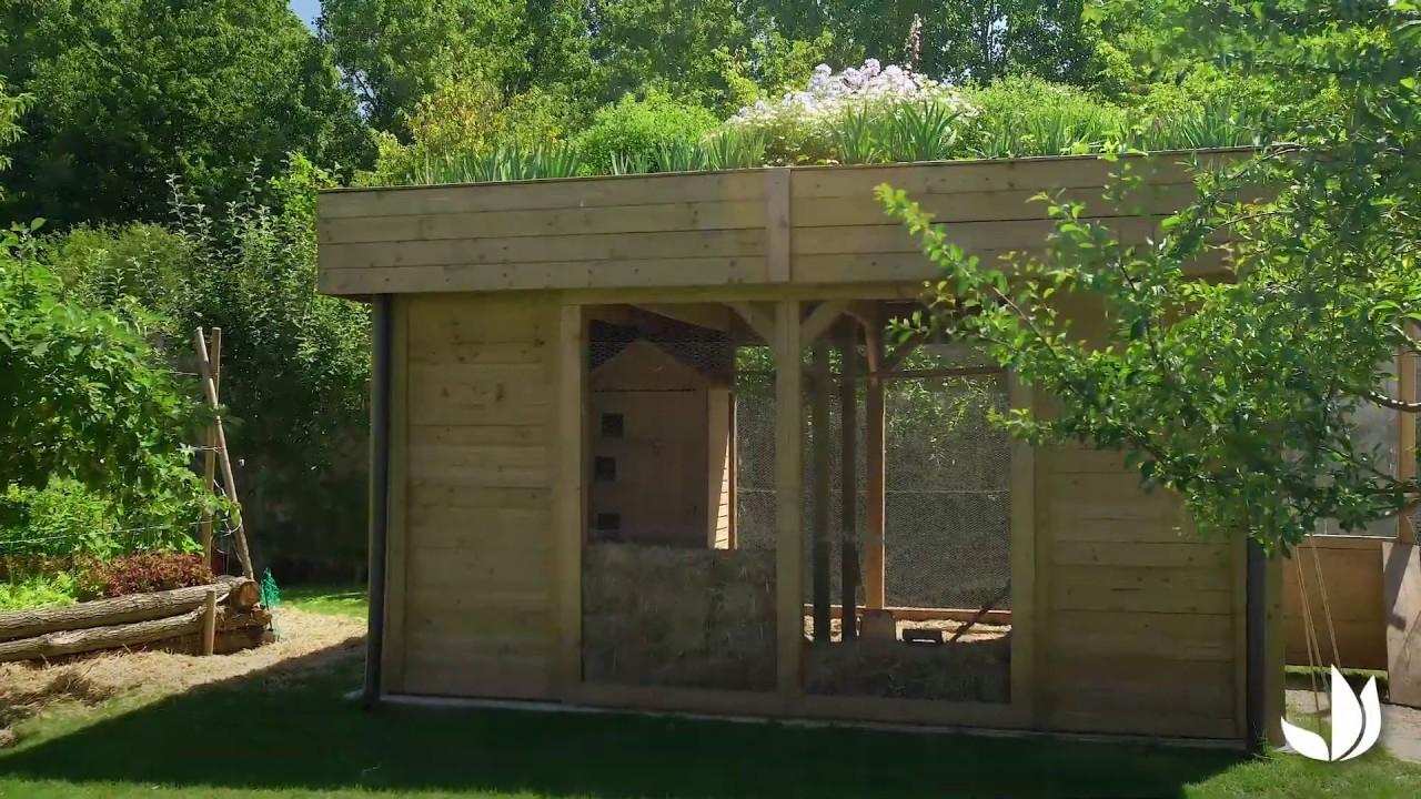 Comment Installer Un Toit Végétalisé ? - Jardinerie Truffaut Tv concernant Truffaut Cabane De Jardin