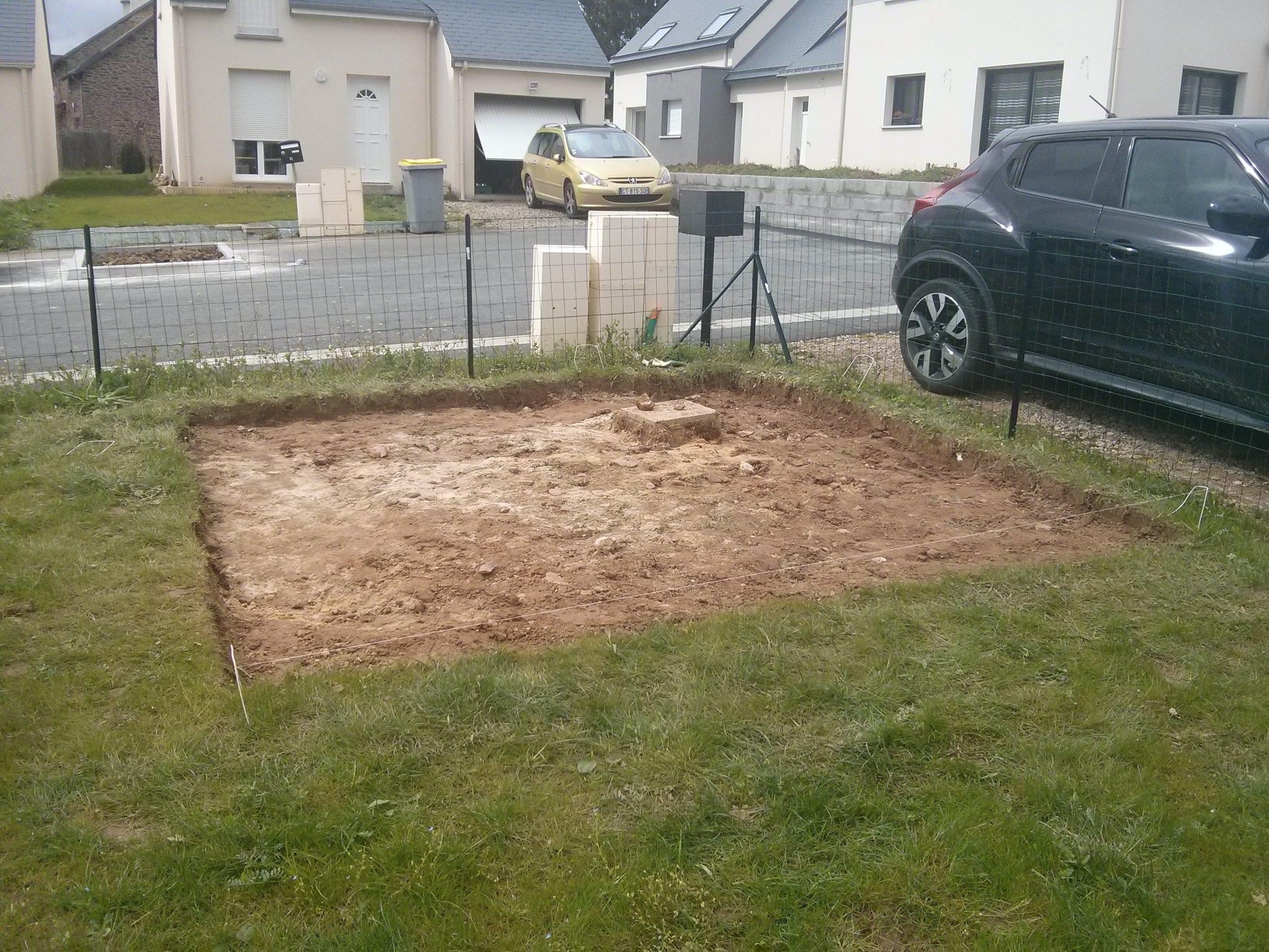 Construction De Notre Dalle Pour Abri De Jardin ... à Support Abri De Jardin