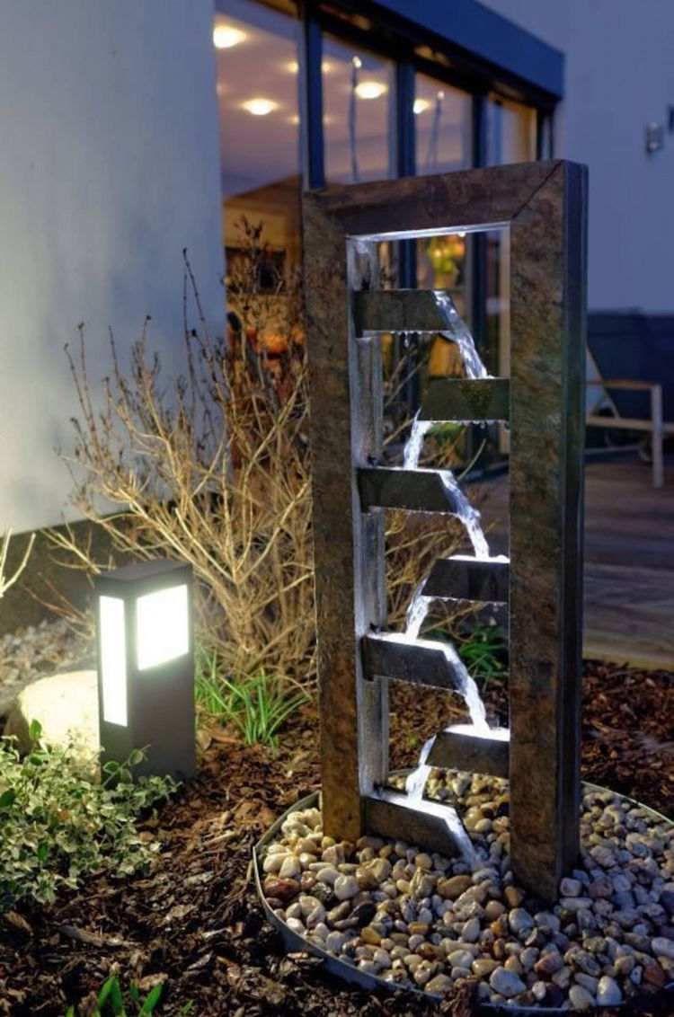 Construire Une Fontaine Extérieure Pour Apporter De L ... pour Fontaine Exterieure De Jardin