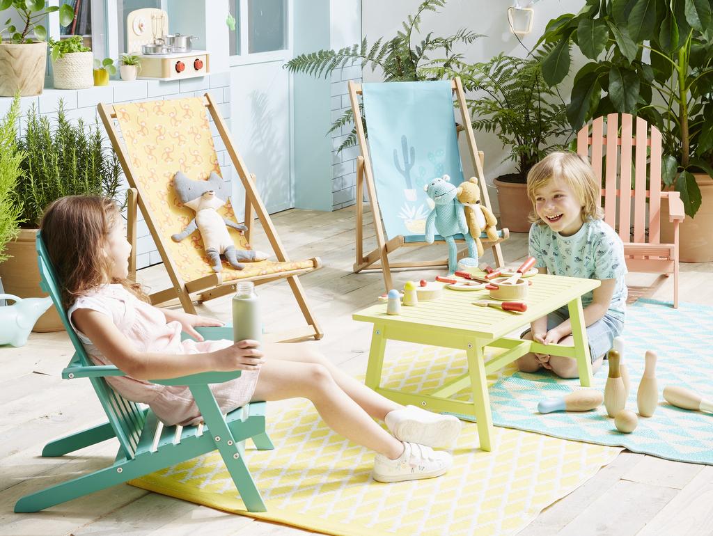 Dehors, Les Kids ! Le Mobilier Extérieur Enfant - Joli Place avec Salon De Jardin Pour Enfant