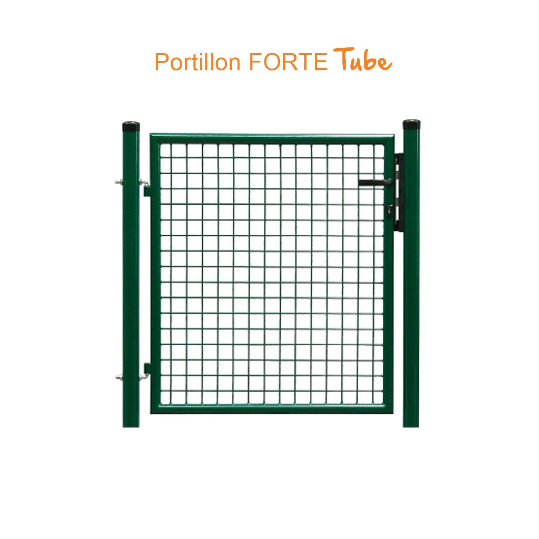 Destockage - Portillon Grillagé Forte Tube tout Portail De Jardin Pas Cher