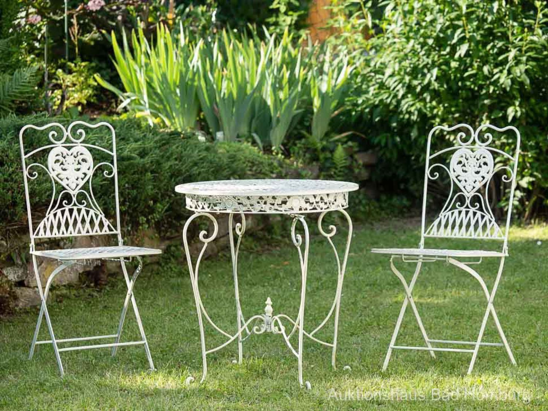 Détails Sur Salon De Jardin - 1 Table Et 2 Chaises - Fer ... tout Ebay Salon De Jardin