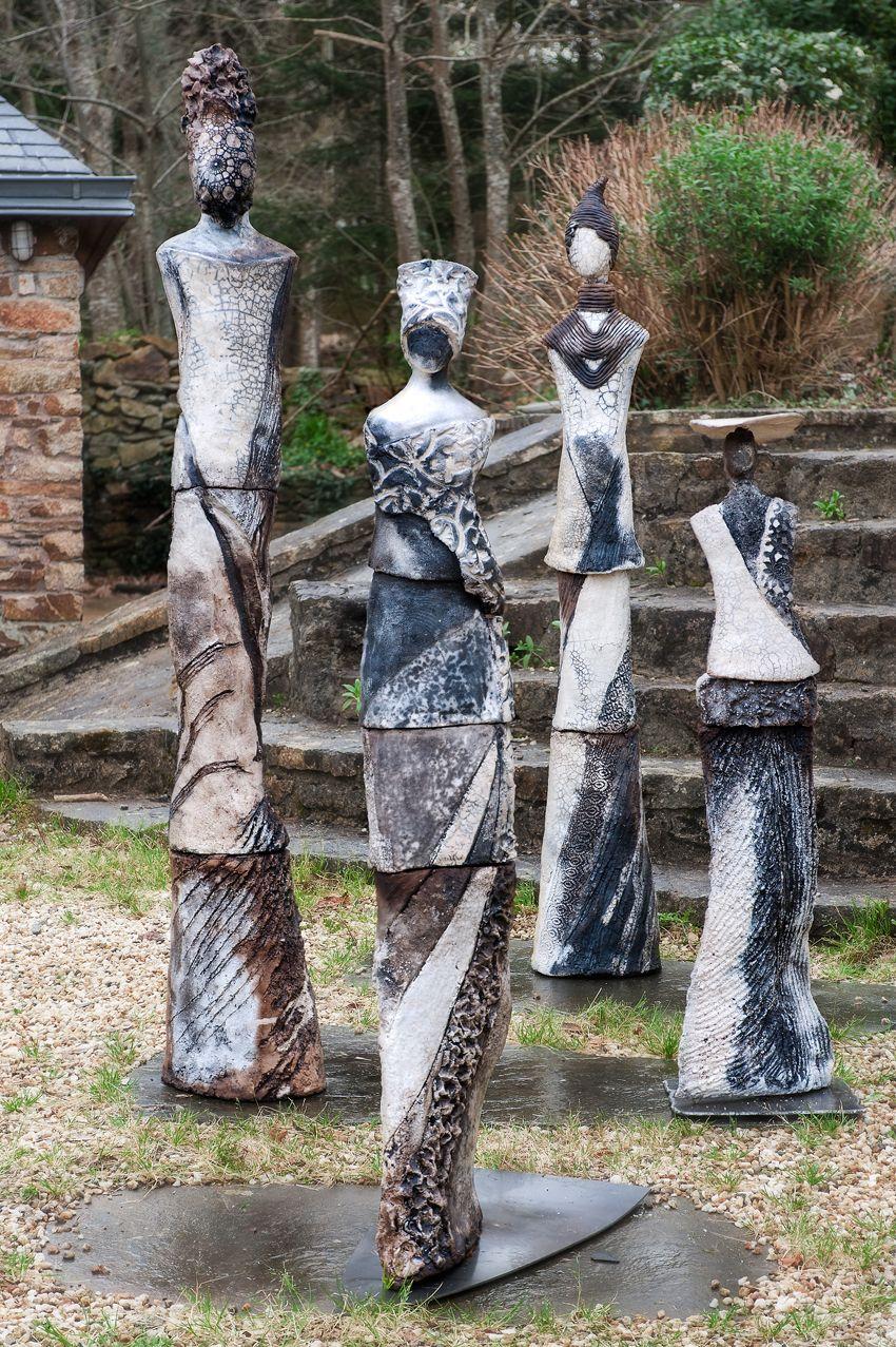 Ensemble Sculpture Raku Pour Jardin …   Skulpturen, Keramik ... serapportantà Sculpture Moderne Pour Jardin