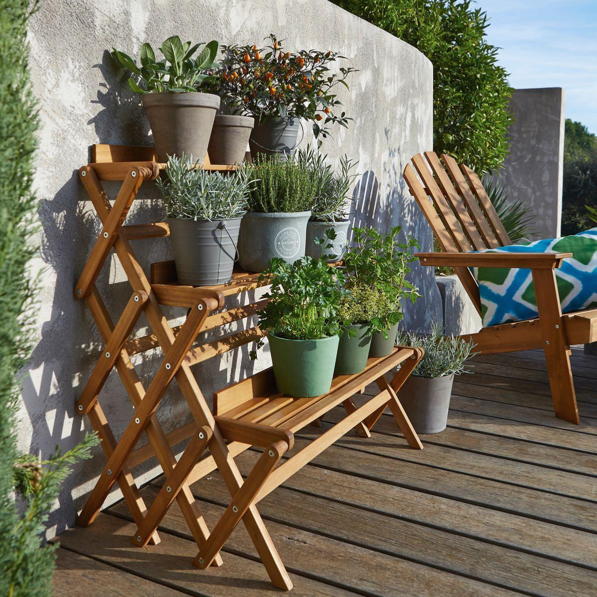 Étagère De Jardin Pour Plantes 3 Niveaux Pliable intérieur Etagere De Jardin Pour Plantes
