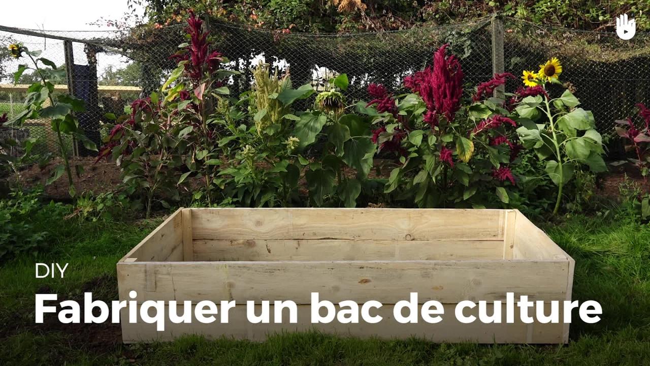 Fabriquer Un Bac De Culture | Jardiner à Bac À Jardiner