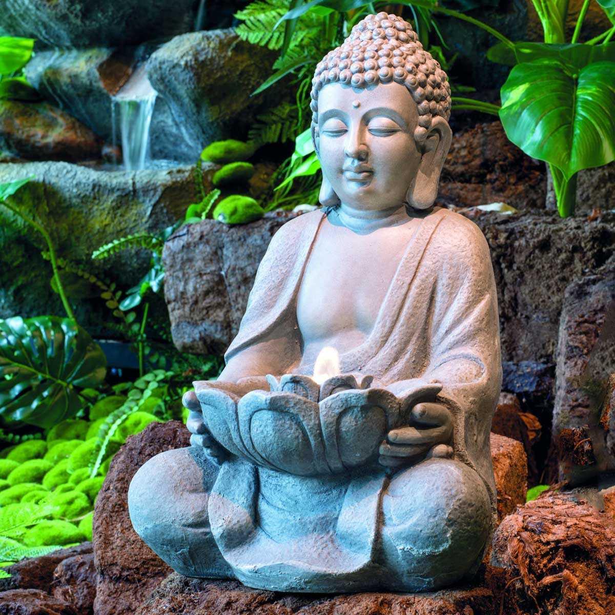 Fontaine Bouddha À Led Interieur Exterieur à Statue Bouddha Exterieur Pour Jardin