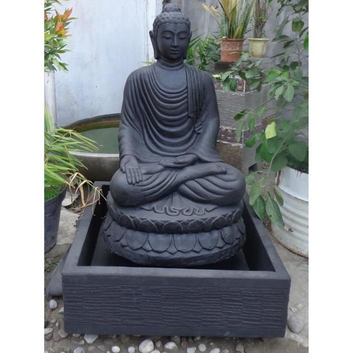 Fontaine De Jardin Bouddha Assis 1 M 20 Patiné Noir - Achat ... encequiconcerne Fontaine De Jardin Bouddha