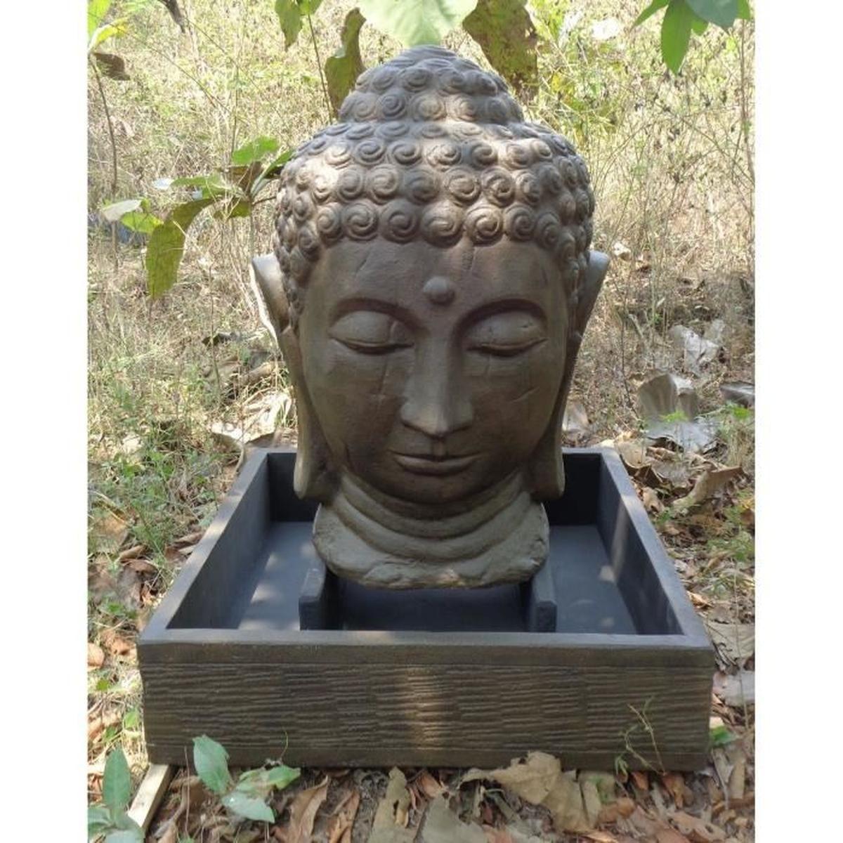 Fontaine De Jardin Tête De Bouddha 1 M 30 Brun - Achat ... pour Fontaine De Jardin Bouddha