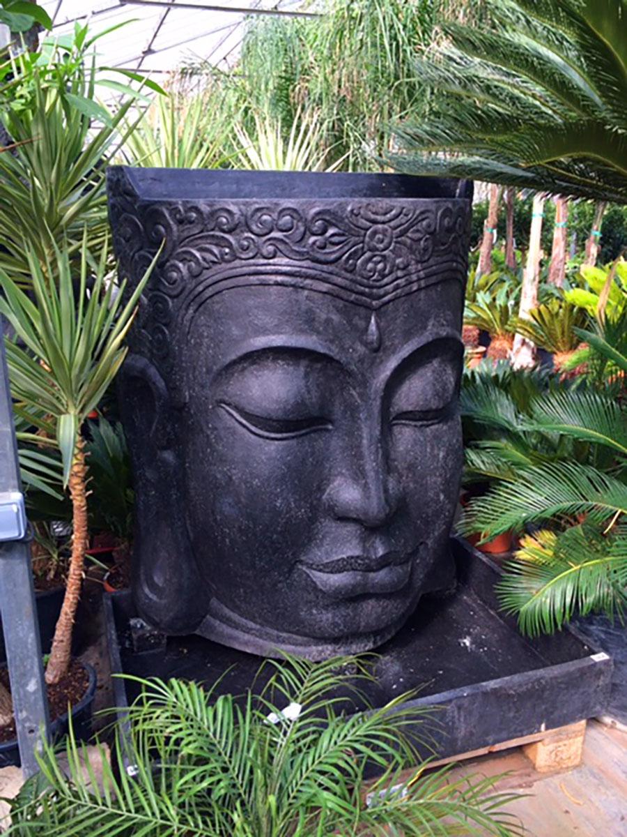 Fontaine Demi-Tête De Bouddha - Dewi - L'esprit Jardin dedans Fontaine De Jardin Bouddha
