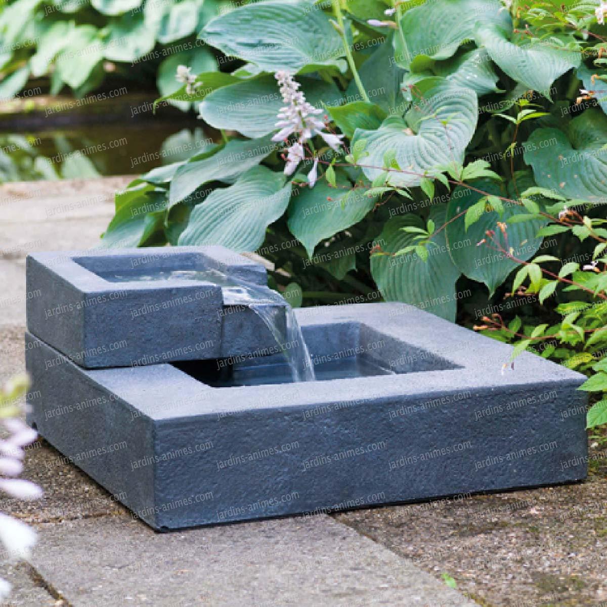 Fontaine En Cascade Carrée Exterieur dedans Fontaine Solaire Exterieur Jardin