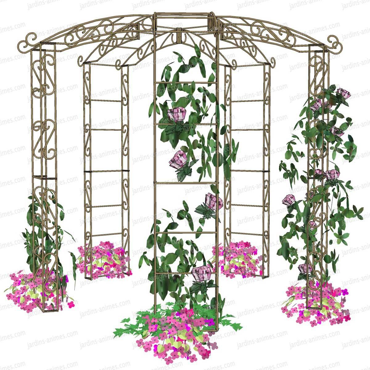 Kiosque De Jardin En Fer Forgé - Idees Conception Jardin | Idees Conception Jardin