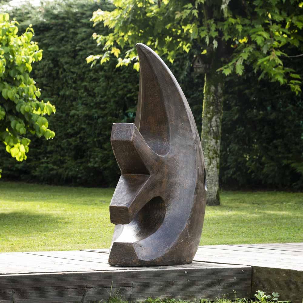 Grande Sculpture Moderne Poisson 100 Cm Brun tout Sculpture Moderne Pour Jardin