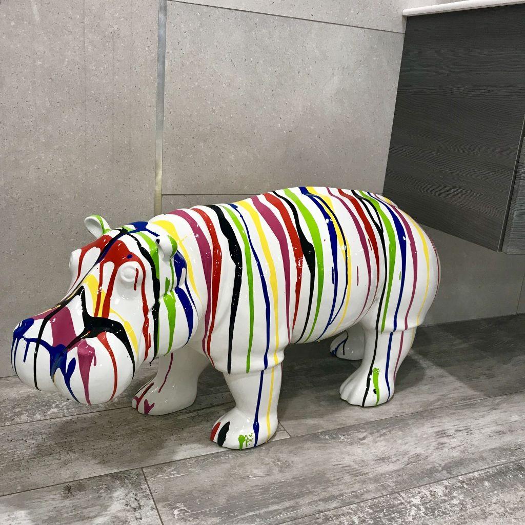 Hippopotame Trash En Résine. Animaux En Résine Pour Une ... dedans Statut De Jardin Pas Cher