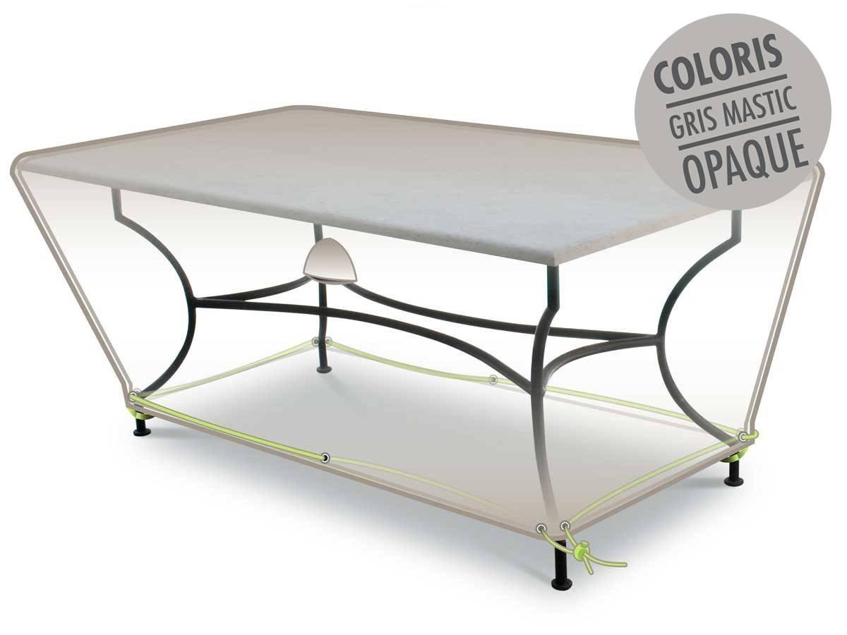 Housse De Protection Luxe Pour Table Rectangulaire - serapportantà Housse Table Jardin Rectangulaire