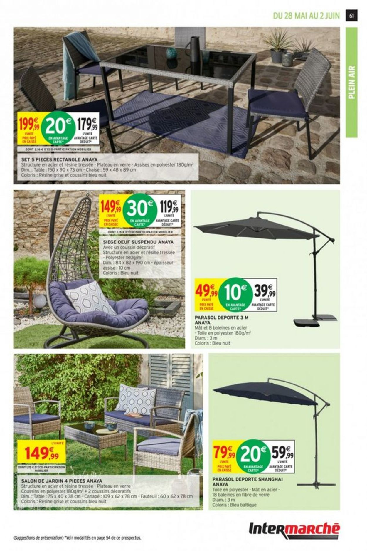 Intermarché Catalogue Actuel 28.05 - 02.06.2019 [59 ... concernant Intermarché Salon De Jardin