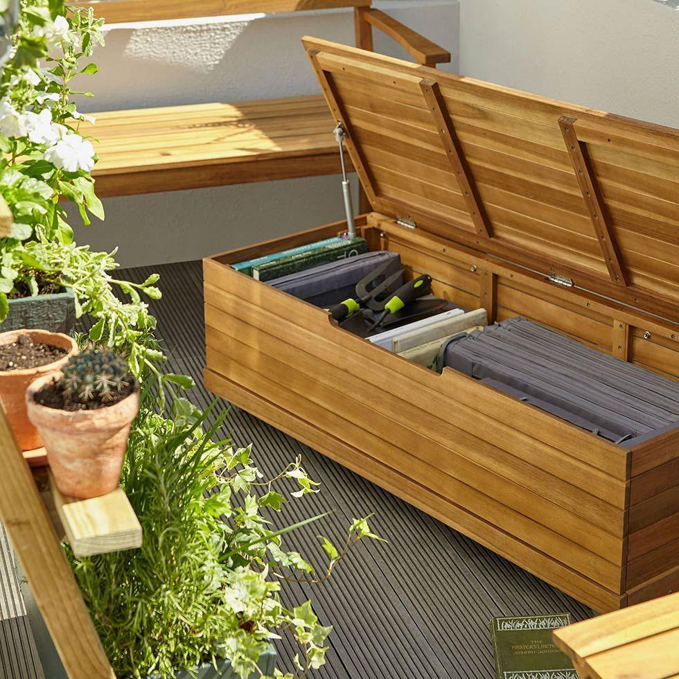 Jardin : Des Idées Pour Aménager Un Balcon - Castorama ... encequiconcerne Castorama Coffre De Jardin