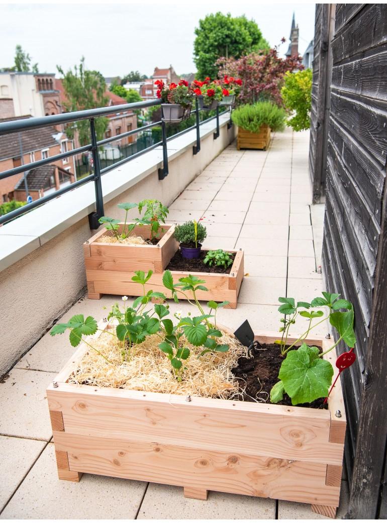 Kit Potager Urbain Pour Balcon Et Terrasse. destiné Jardin Potager De Balcon