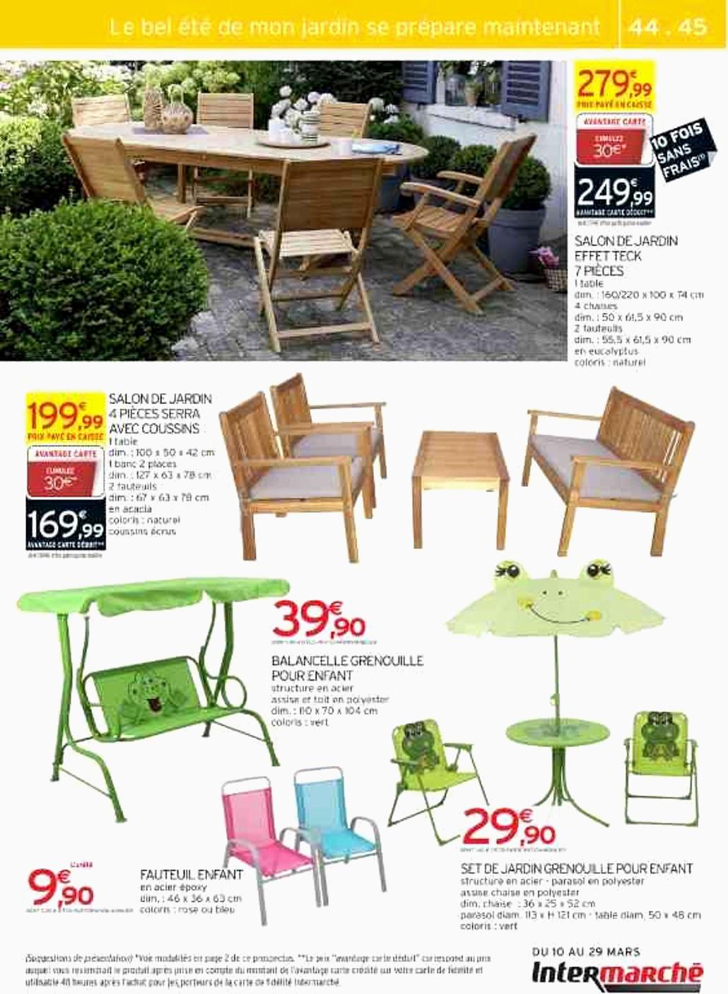 Location Materiel Pour Jardin Frais Salon De Jardin ... dedans Intermarché Salon De Jardin