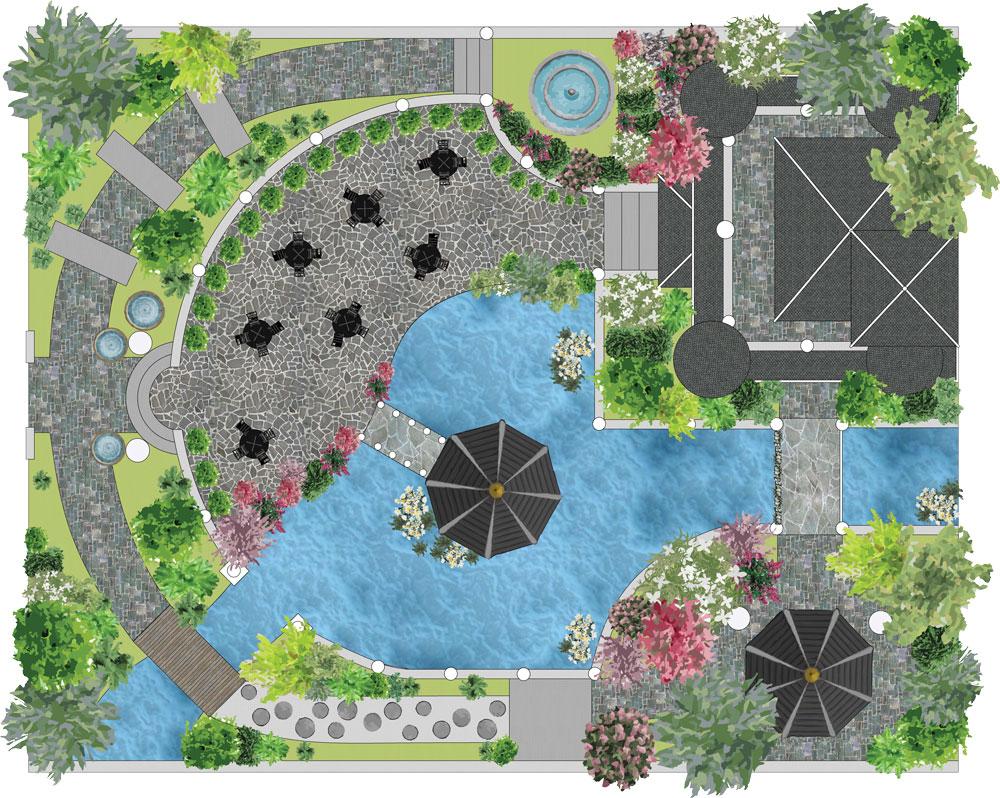 Logiciel De Plans Paysagers 2D Dao-Cao - Jardicad avec Créer Un Plan De Jardin Gratuit
