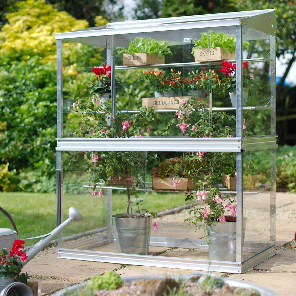 Mini Serre De Jardin En Verre Et Aluminium H.150Cm destiné Petite Serres De Jardin