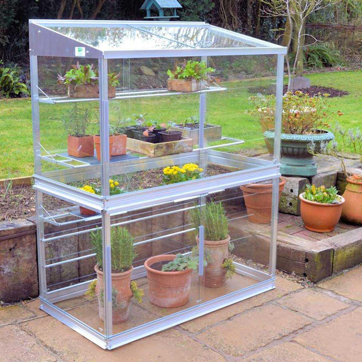 Mini Serre De Jardin En Verre Et Aluminium H.150Cm pour Petite Serres De Jardin