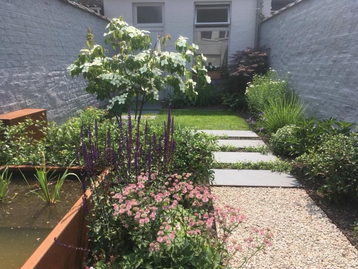 Petit Jardin À Ath Par Actual Garden Sprl intérieur Aménagement Jardin Hainaut