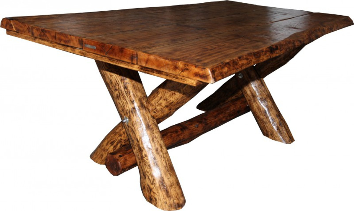 Rustic Oak Dining Table 200 X 115 Cm - Massive And Heavy Casa Padrino -  Gasthaus Table Dining Table Knight Table - Restaurant Furniture encequiconcerne Casa Table De Jardin