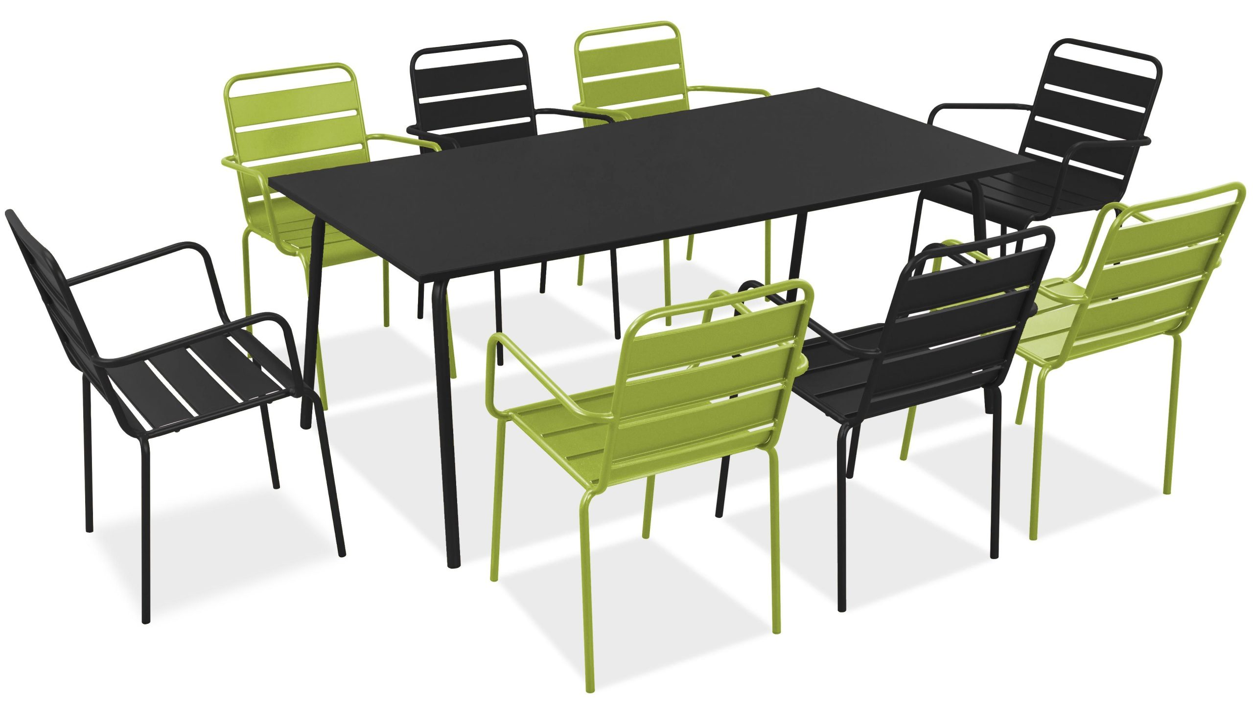 Salon De Jardin Metal Table Et Fauteuils destiné Table De Jardin En Solde