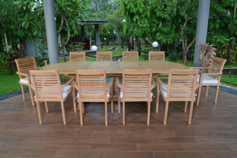 Salon De Jardin Teck Ecograde Venise, 10 Fauteuils avec Salon De Jardin Teck Massif